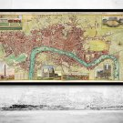 OLD LONDON MAP 1800 - fine reproduction