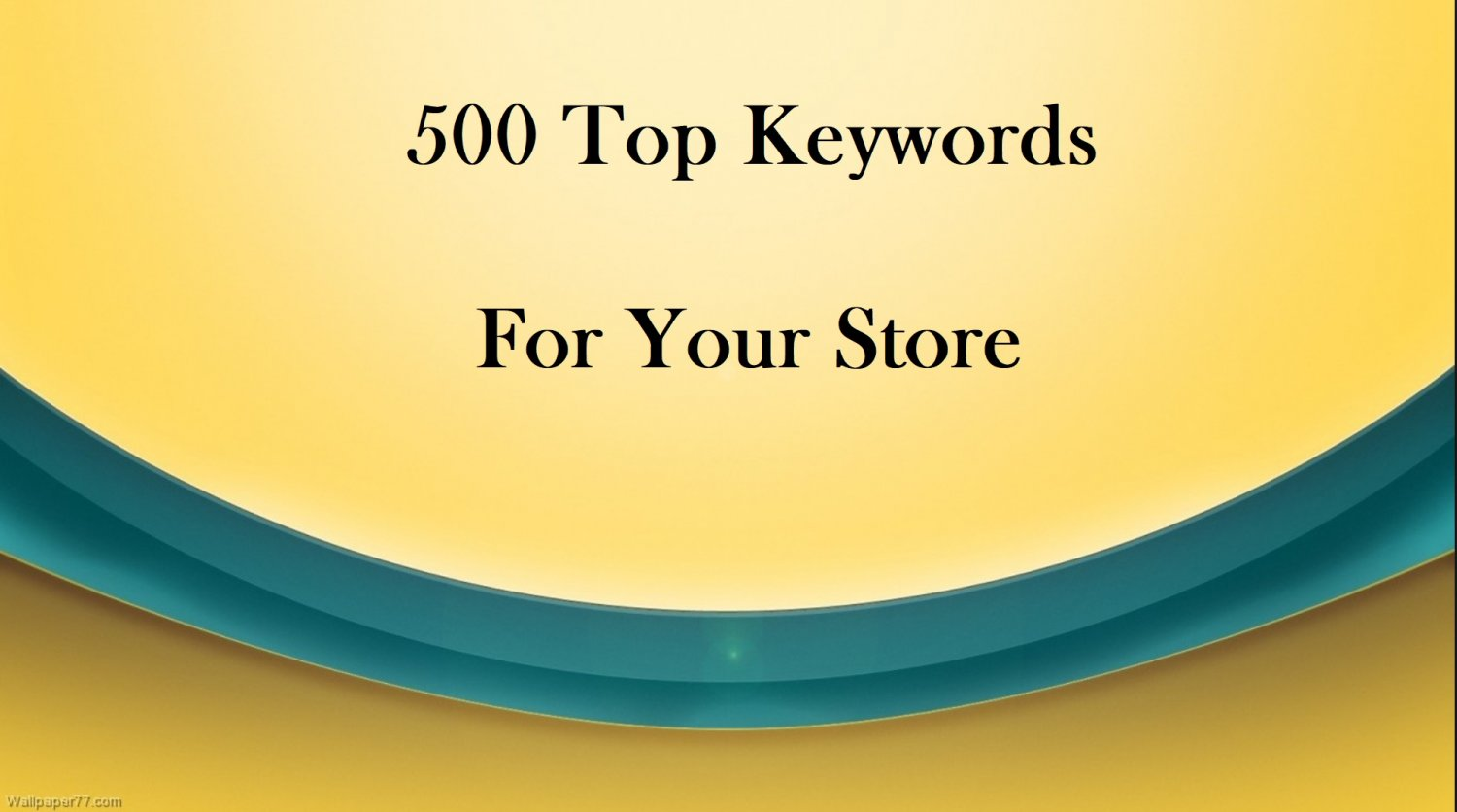 Keyword Research For Your Store 500