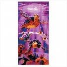 Sea Turtle Print Beach Towel