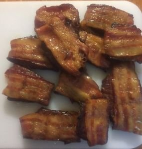 Teriyaki Smoked Beef Jerky Wrapped in Thick Cut Bacon  8 ounce