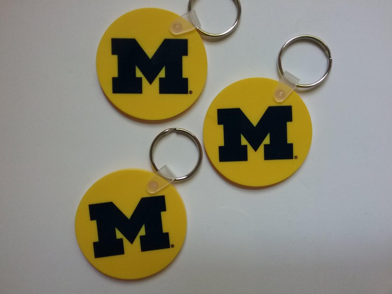 3 University of Michigan Key Rings - NEW