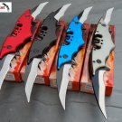 NEW 4 Pc Batman DOUBLE BLADE Spring Assisted TACTICAL Pocket Knife SET Bat Man