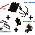 NEW SET GRAPPLING Ninja Hook + Foot Spike + Hand Claw Forest Gear Outdoor Jungle