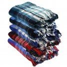 Two Side Combed Twin Size Extra Heavy Mexican Blankets with 100% Recycled Fibers