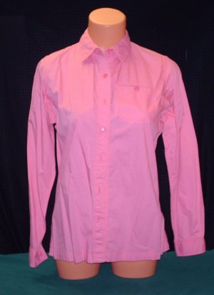 Womens/Misses Dark Pink/Rose Blouse/Shirt, L/S Size 12 by Matti Sport