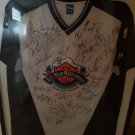 NBA ALL STAR GAME MULTI SIGNED WARM UP JERSEY 31.5X38.5 FRAMED
