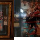 MIKE TYSON AND EVANDER HOLYFIELD FRAMED 16X20 PHOTO AND FIGHT TICKETS