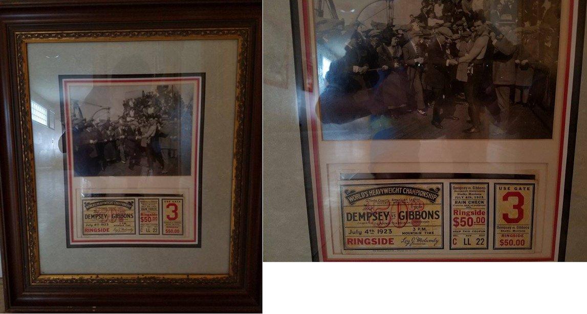 JACK DEMPSEY 1923 FULL UNUSED RINGSIDE TICKET VERSUS TOM GIBSON JULY 4, 1923