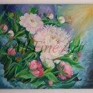 Peonies Original Oil Painting Light Pink Garden Flowers Peony Decor Floral Fine Art