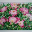 Peonies Original Oil Painting Pink Big Flowers Bouquet Still Life Peony Fine Art Garden Blossoms