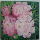 Pink Peonies Original Oil Painting Flowers Fine Art Peony Still Life Realism Garden Blossoms