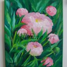 Pink Peonies Original Oil Painting Garden Flowers Still Life Peony Fine Art Impressionist Blossoms