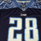 Tennessee Titans Chris Johnson 28 Football Jersey Onfield Reebok NFL XL (Youth)