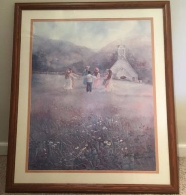 Home Interiors Bettie Felder Limited Edition Lithograph 32x27 Signed & Numbered