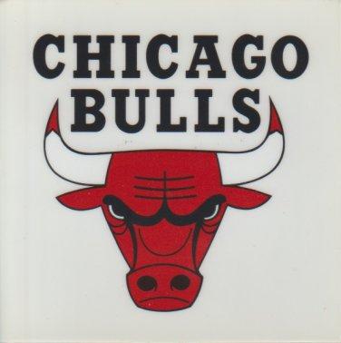 Chicago Bulls Decal Sticker 4 Inch x 4 Inch