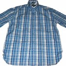 Tommy Hilfiger Short Sleeve Plaid Button Up Size Medium Blue Combination
