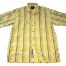 Phat Farm Plaid Throwback Black Yellow Button Up Stripe XL