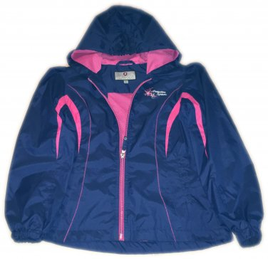 Protection System Zip Up Windbreaker Girl Size 14