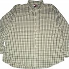 Tommy Hilfiger Green Button Up Long Sleeve Casual Club Plaid Shirt XL