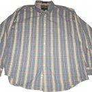 Alexander Julian Long Sleeve Button Up Casual Lounge Plaid Collar Shirt XL