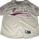 Mississippi State Bulldogs Starter Throwback Grey Maroon Baseball Jersey