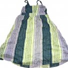 Old Navy Green Combination Stripe Dress Girls Size L