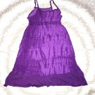 Faded Glory All Purple Dress Girls Size Large 10/12