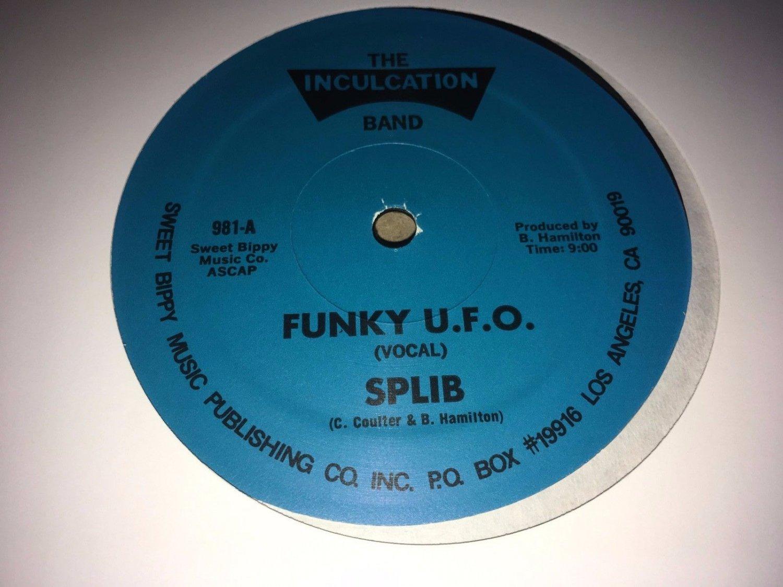 """Splib & The Inculcation Band - Funky U.F.O. 12"""" Single 1981 Inculcation Records"""