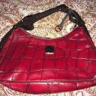 Red Crocodile/Alligator Dooney & Bourke Hobo Handbag