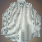 The Children's Place Casual Collar Shirts TWO Kids size Large Green / Red Stripe