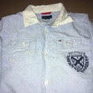 Tommy Hilfiger Casual Long Sleeve Denim Blue Collar Shirt Kid's Size 7