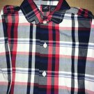 Nautica Casual Long Sleeve Button Up / Down Kid's Size 5 Blue Red Plaid