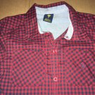 U.S Polo Assassin Long Sleeve Collar Button Up Down Kid's Size 7 Blue Red Plaid