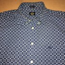 Dockers Casual summer button up / down Short Sleeve Men's Size Large Blue