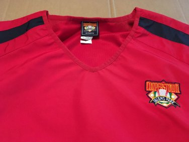 Coopers Town Dreams Park Windbreaker / Pullover Men's Size XL Red / Blue