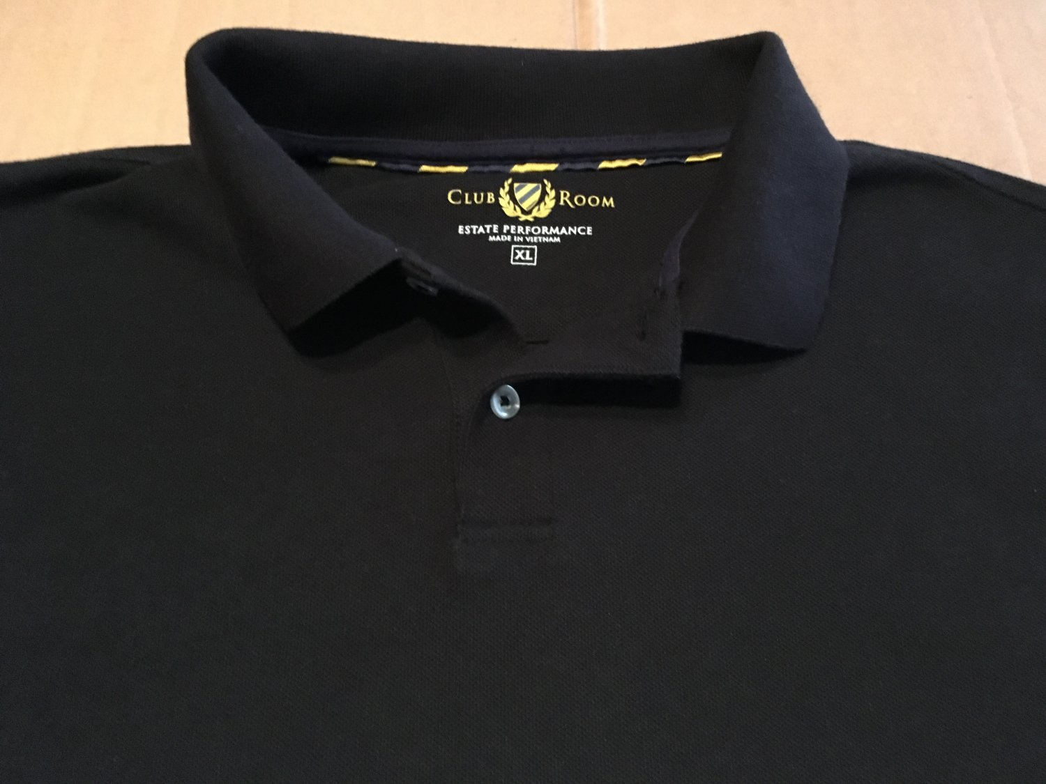 Club Room Solid Black Polo, Rugby, Golf T Men's Size XL