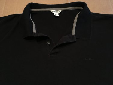 Calvin Klein All Black Polo, Rugby, Golf Men's Size XL