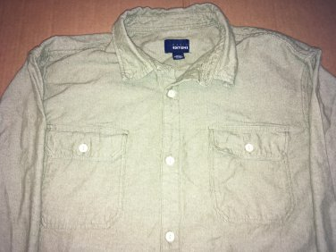 Basic Editions Green Flannel Long Sleeve Button Up / Down Men's Size XXL
