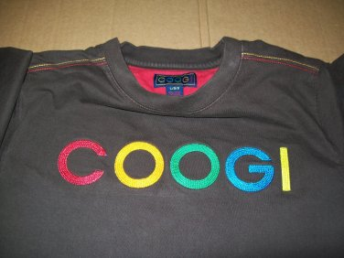 Coogi Kids Embroidered Multi Color Font Brown Tee Shirt Size Size Large