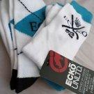 2 Pair Ecko Unlimited Men Crew Socks Large Blue Black White Rhino 6 1/2-12
