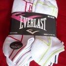 6 Pair Women Everlast Running No Show Socks Medium Cushion Sole 9-11