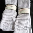 6 Pair of  Pocono Relaxed Fit Cotton Cushion Crew Socks 12-15 Made USA Grey