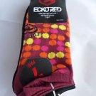 7 Pair Ecko Red No Show Socks Dots Orange Black Yellow 4-10 1/2