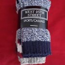 3 Pair Medium Womens West 25th Street Casual Cotton Ragg Sock 9-11 Made in USA
