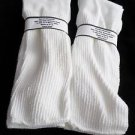 2 Pair Mens Over the Calf Diabetic Sock 100% Cotton 12-14 XL White Made in USA