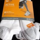 6 Pair Extra Large Champion King Size Active Performance No Show Socks12-14