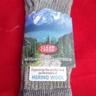 1 Pair Medium Clear Creek 56% Merino Wool Hiker Sock  Men Women 9-12