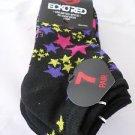 7 Pair Ecko Red No Show Socks Stars Black Pink Purple Yellow 4-10 1/2