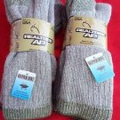 4 Pair Large Real Tree 20% Wool Hiker Work Boot Socks 9-13 Arch Support Made USA