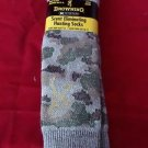 1 Pair Large Browning Scent Eliminating Hunting Camo Boot Socks 9-12 Made in USA